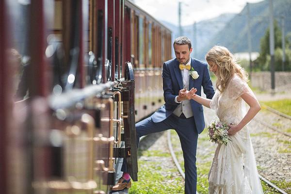 Wedding Day Train Ride