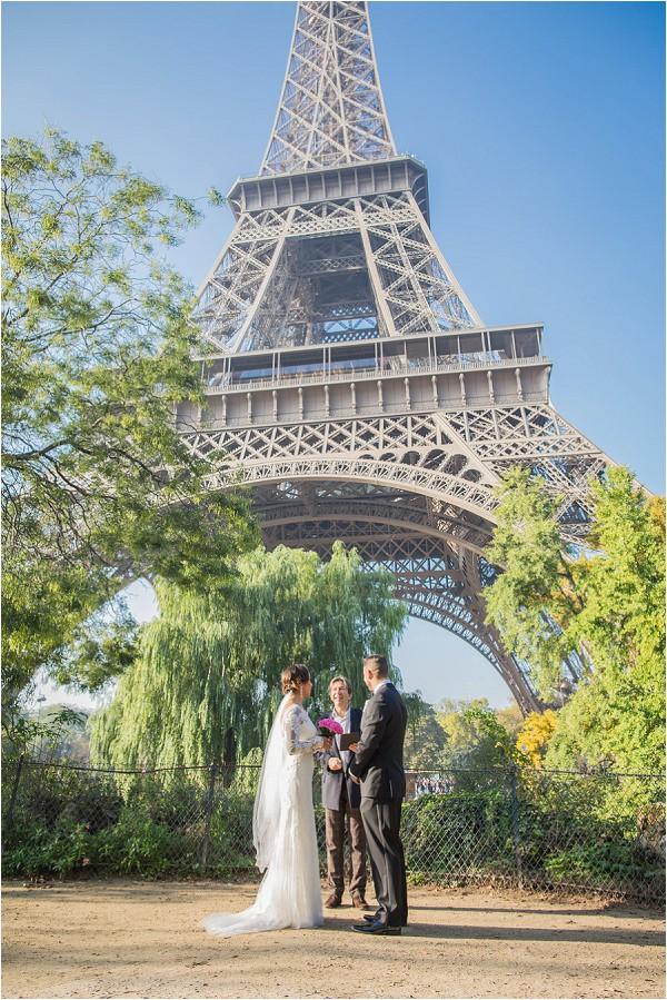 Wedding at Eiffel Tower