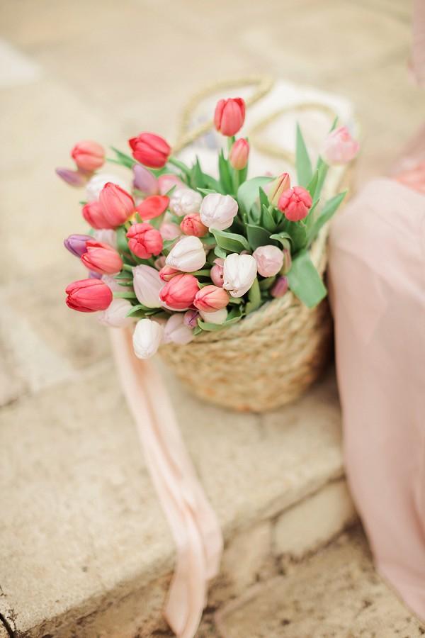Wedding day tulips