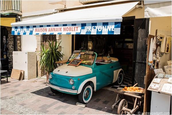 cute mint car in France