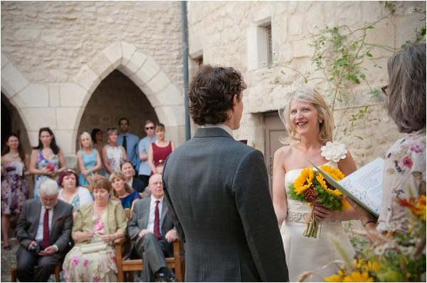 real wedding Chateau de Brametourte