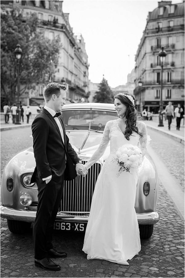 vintage glamour wedding in Paris
