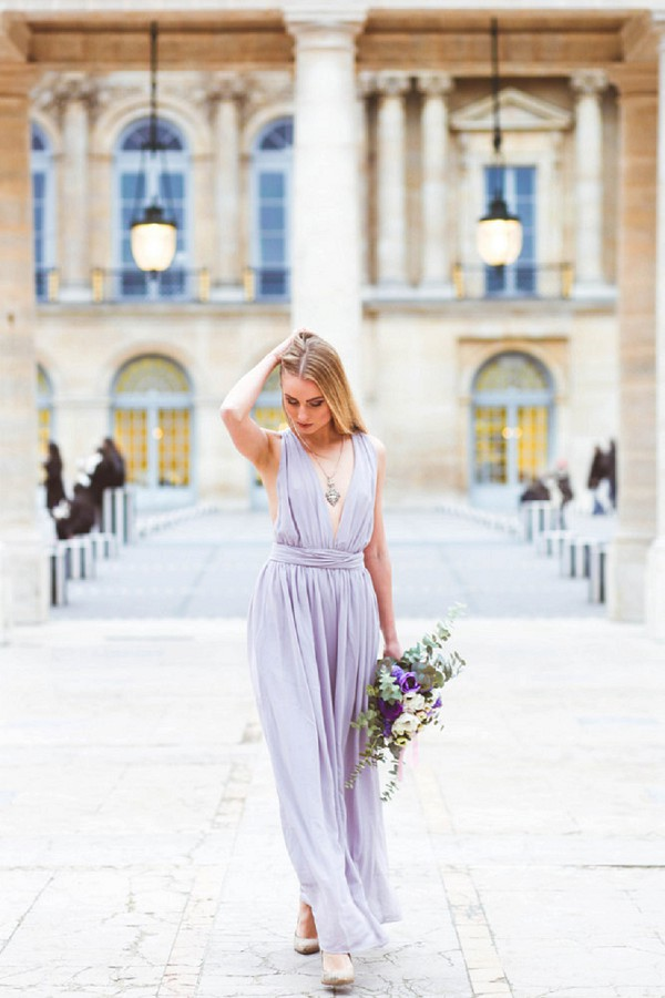 Asos lilac gown