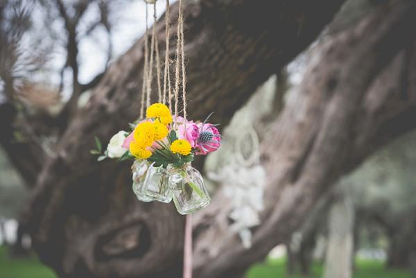 Bohemian hanging flowers