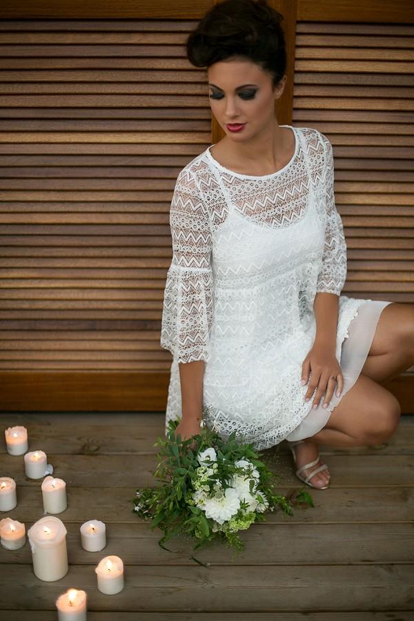 Boho 60's wedding dress