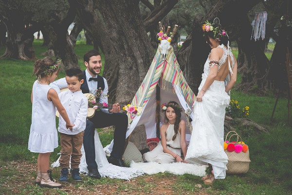Cute tipi engagement prop