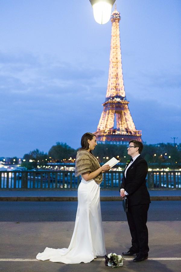 Eiffel Tower Vow Exchange
