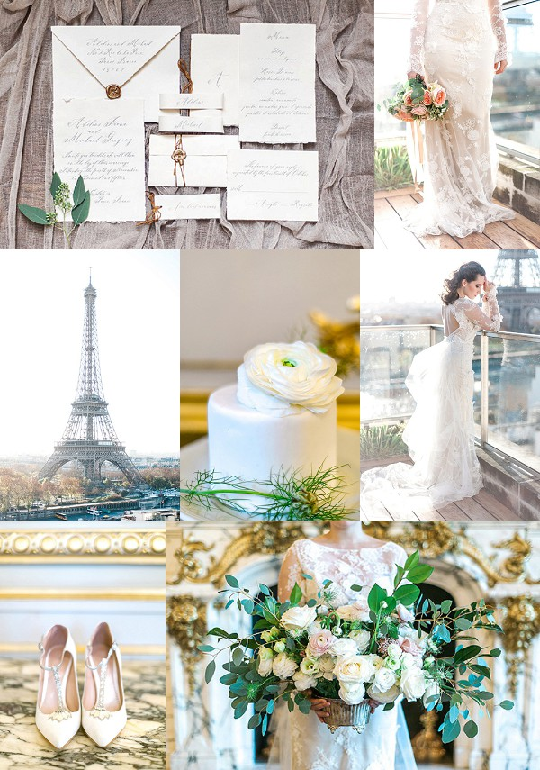 Elegant Shangri-La Paris Wedding Inspiration Snapshot