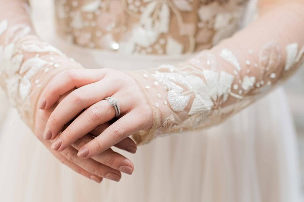 Engagement and wedding ring duo