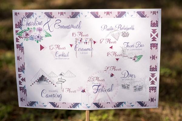 Festival themed wedding day