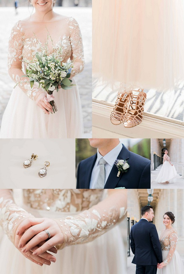 Hayley Paige Gown For A Sweet Parisian Elopement Snapshot