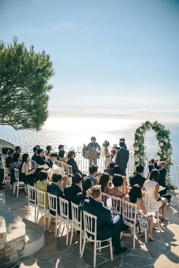 Hilltop wedding ceremony