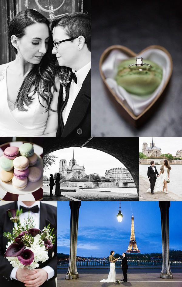Intimate, Stylish Paris Elopement Snapshot