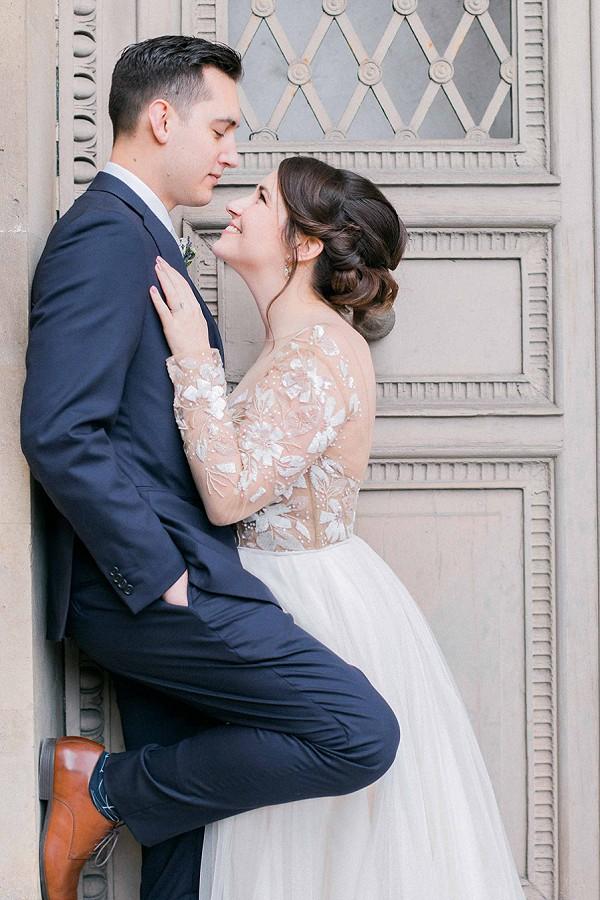 Intimate wedding day Paris