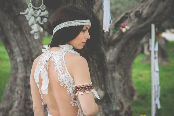 Lace wedding headband