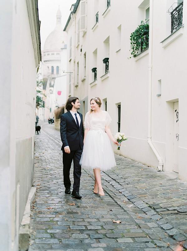 Love shoot near Sacre Coeur