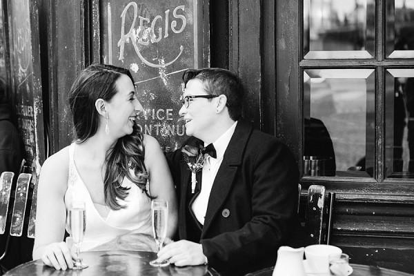 Paris restaurant wedding shots