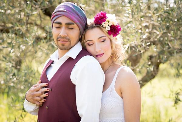 Plum colour wedding details