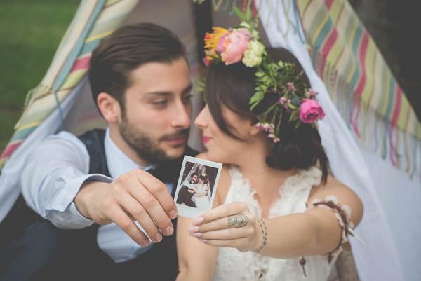 Polaroid wedding images