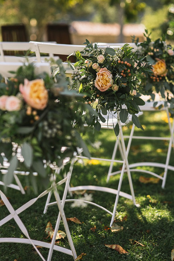Pretty wedding chair decorations