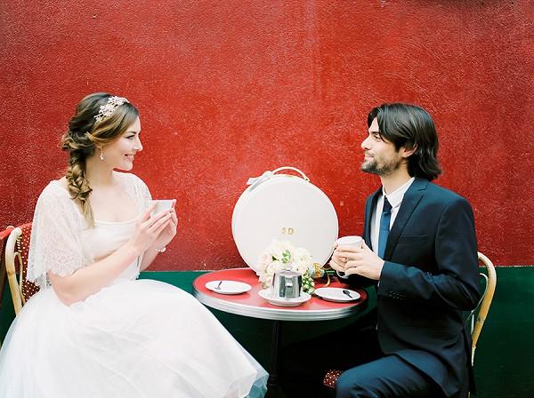 Romantic coffee in Paris