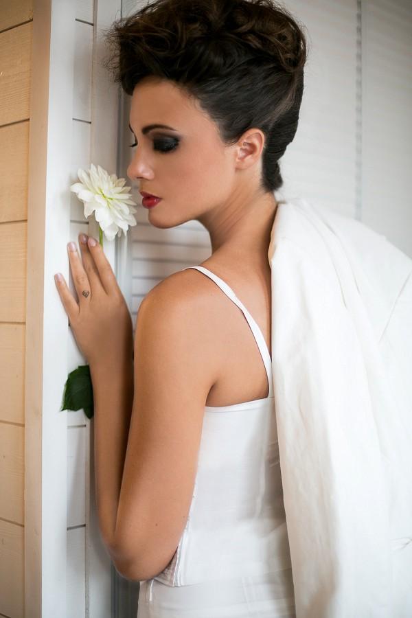 Simple, chic wedding attire