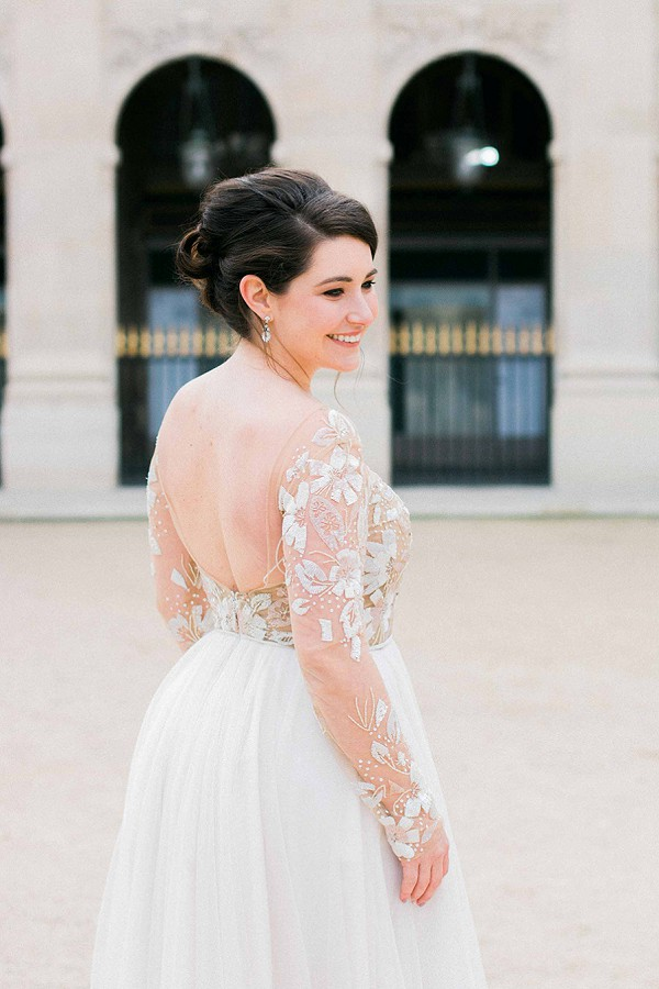 Stunning long sleeve wedding gown