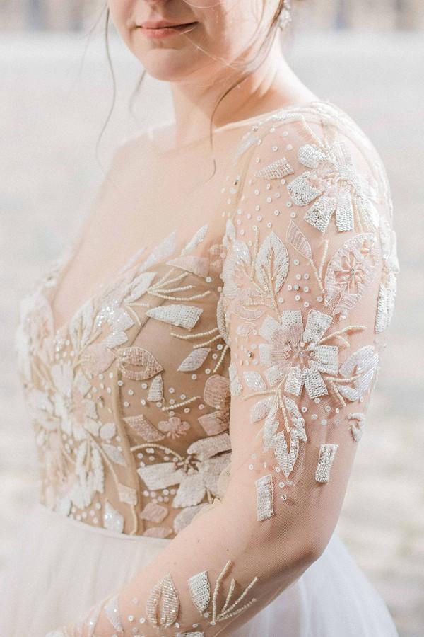 Stunning wedding gown detail