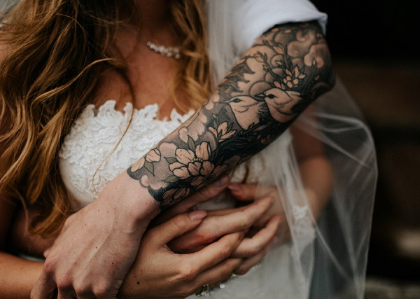 Tattoo wedding day photography