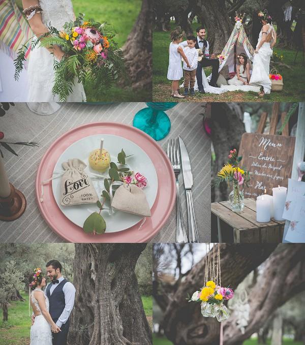 Vibrant Bohemian Engagement Shoot Snapshot