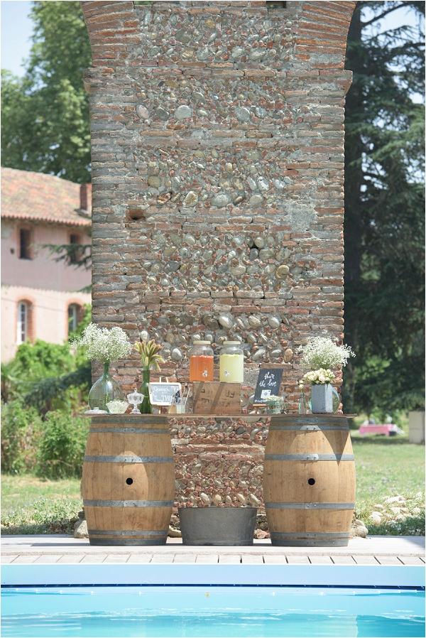 barrel drinks station