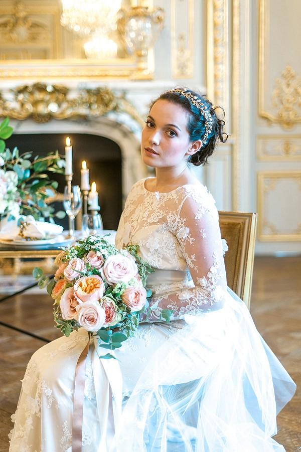 david austin elegant bridal bouquet
