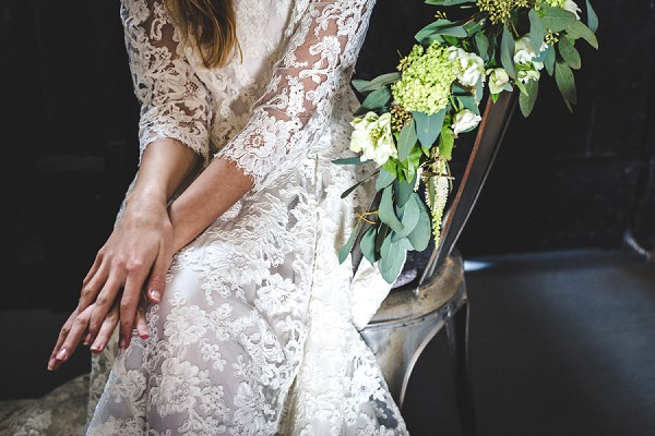 intricate lace wedding dress