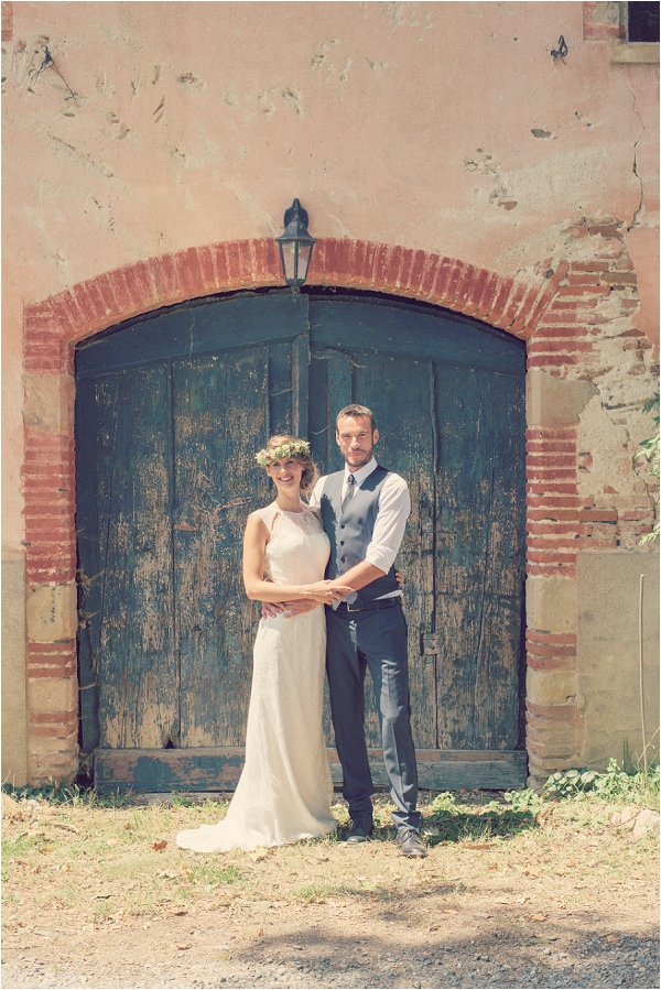 rustic country style wedding France