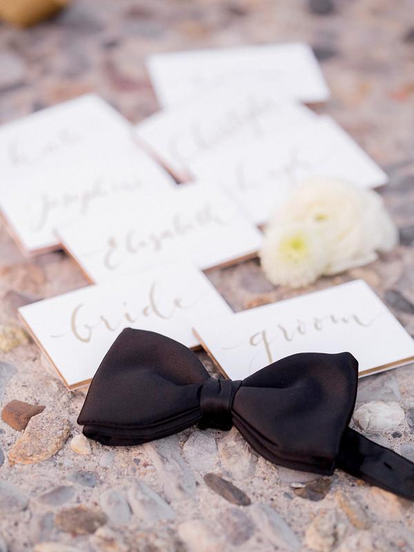 Bow tie wedding