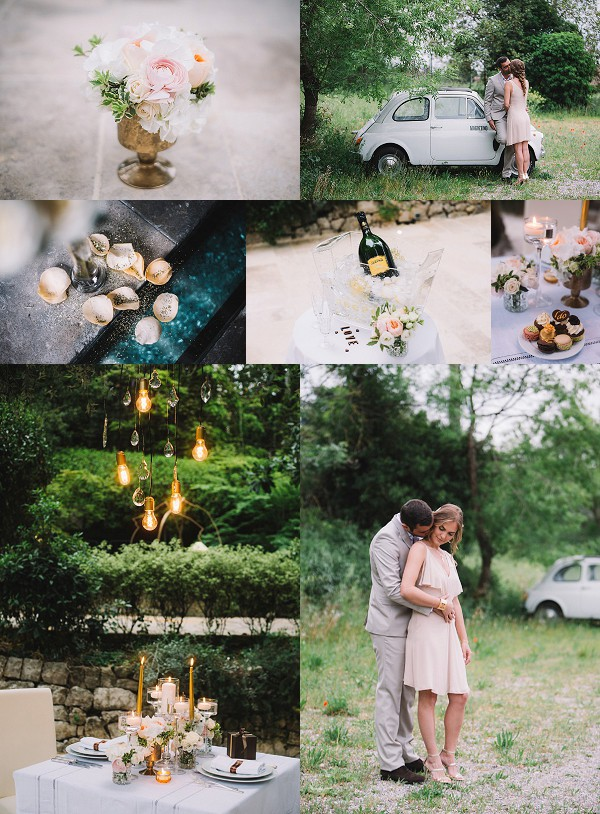 Champagne French Riviera Engagement Session