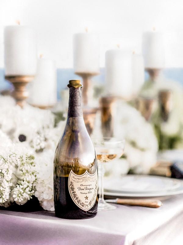 Champagne wedding drinks