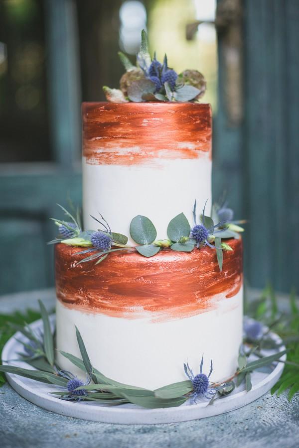 Copper wedding cake