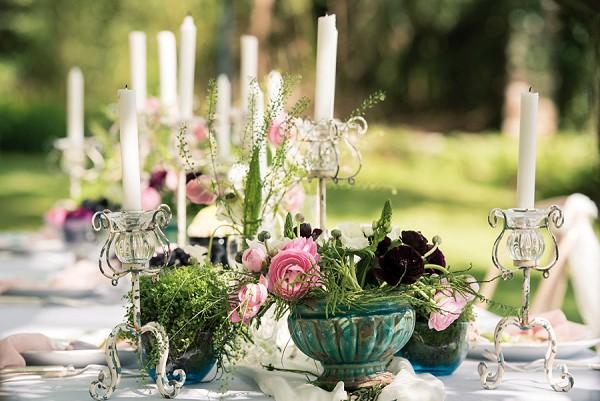 Cottage garden wedding look