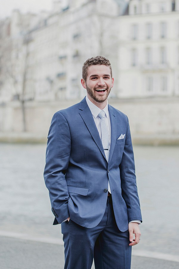Dapper groom portrait