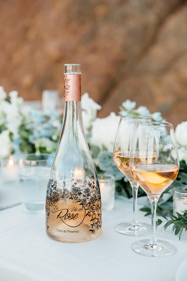 Elegant wedding day drinks