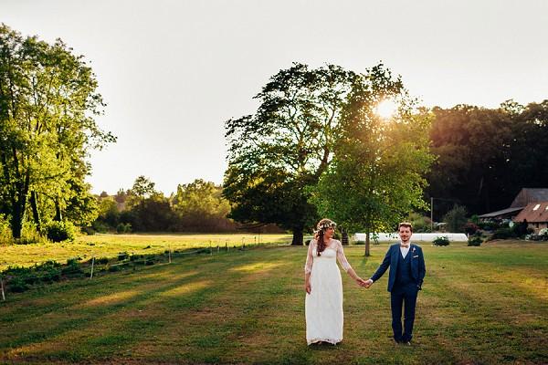 Meadow wedding photo
