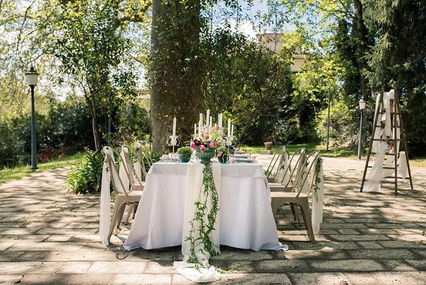 Outdoor wedding reception France