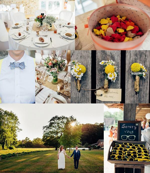 Rustic Normandy Grange du Lavoir Wedding Snapshot
