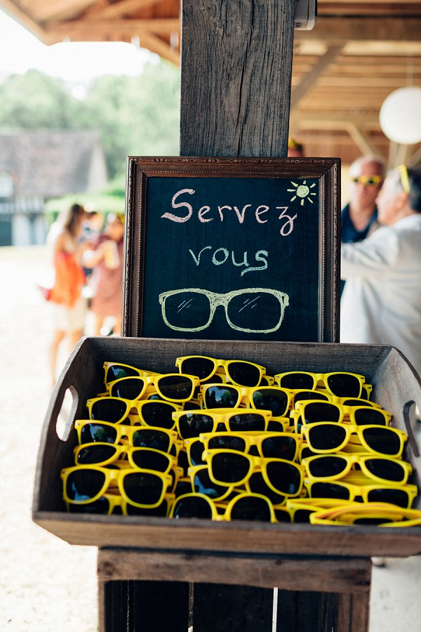 Wedding day sunglasses