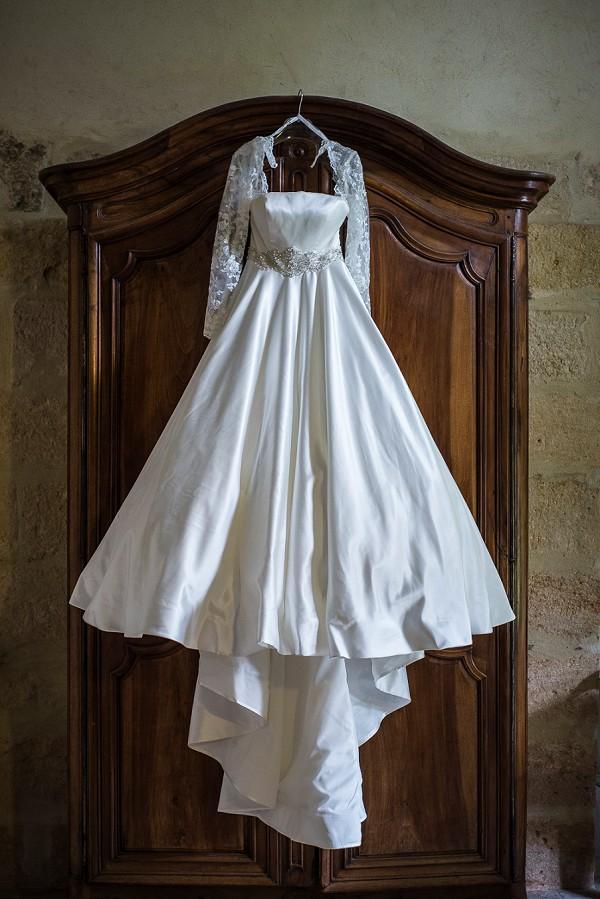 Wedding dress shot