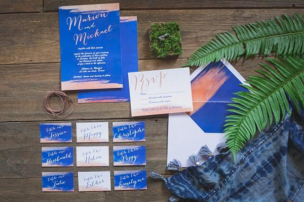 Wedding invitation suite modern