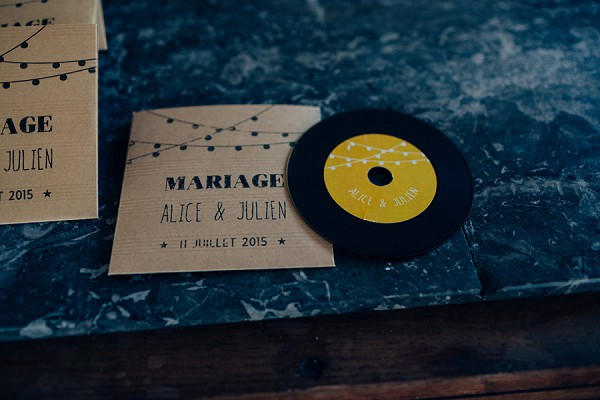 Wedding music favour