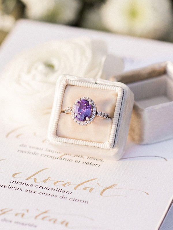 amethyst wedding ring
