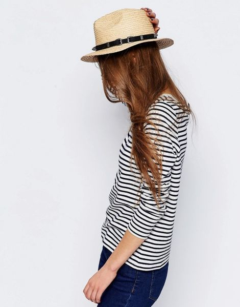 Natural Straw Panama Hat With Western Trim
